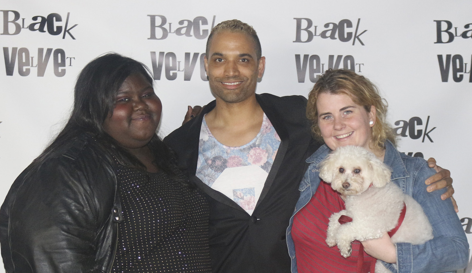 Gabourey Sidibe, Tobias Daniels, Colleen Broomall at a Fundraiser for Black Velvet in the Hollywood Hills