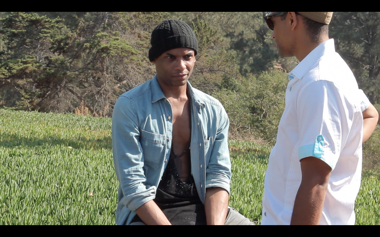 Director Tobias Daniels on location with T-Boy in San Diego